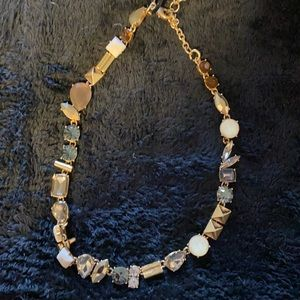 JCrew Gold Mixed Stone/ Stud Necklace